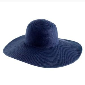 NWOT J. Crew Floppy Straw Wide Brim Hat